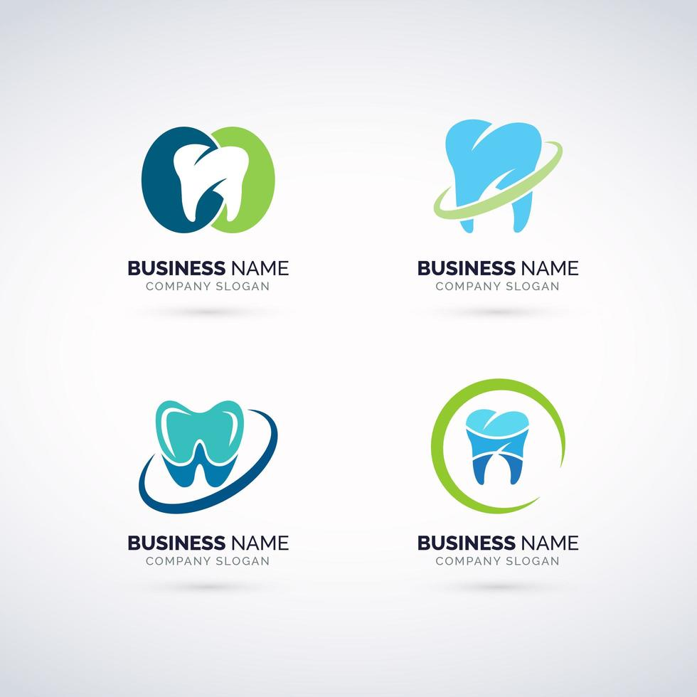 Conjunto de logotipo DENTAL vetor