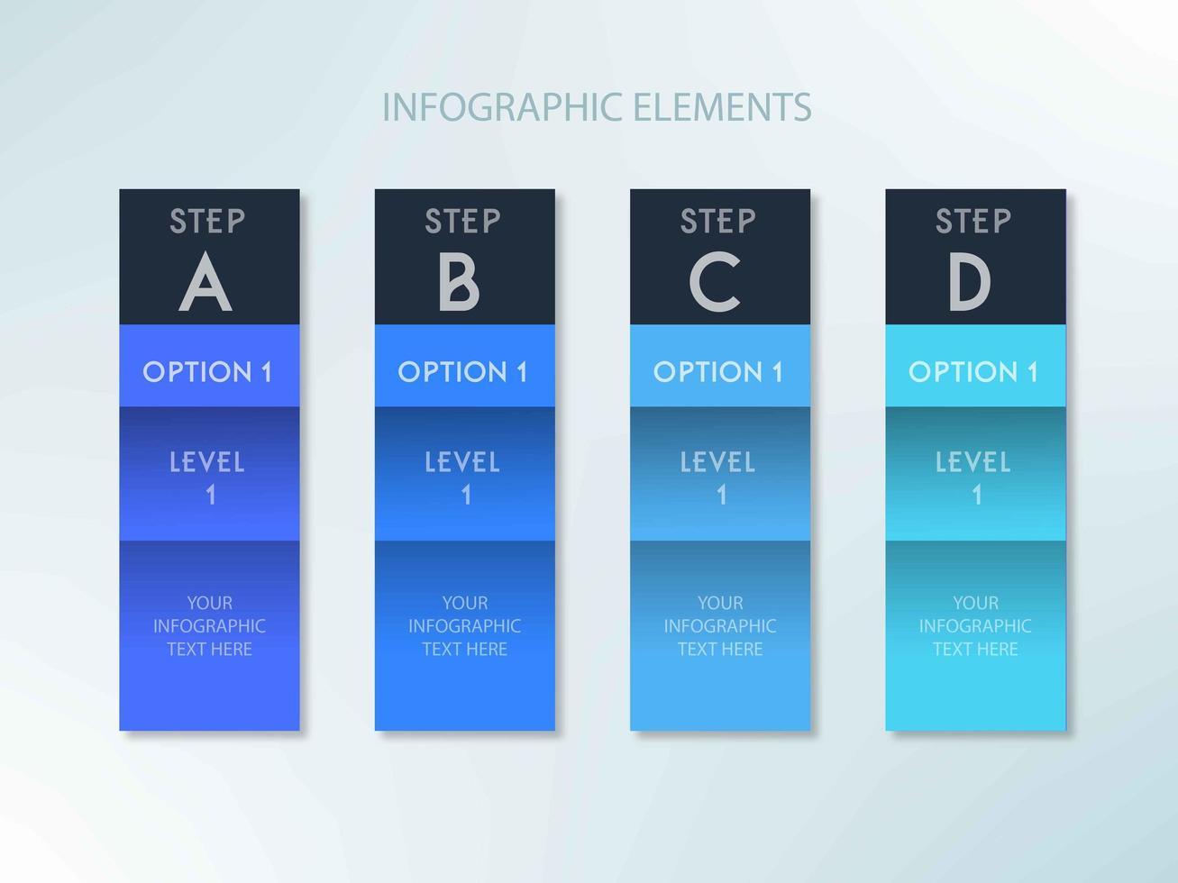 Infográfico azul passo modelo de design vetor