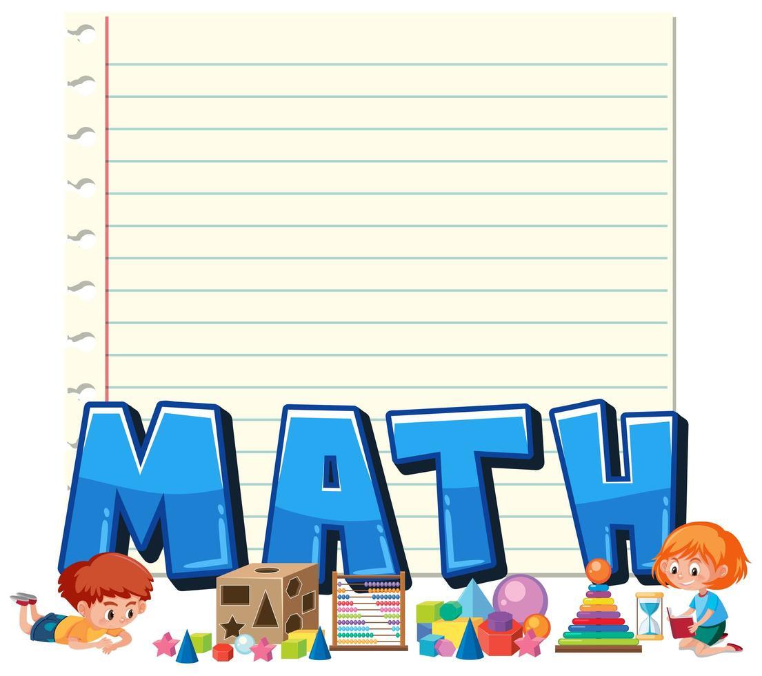 Um modelo de anotação matemática vetor