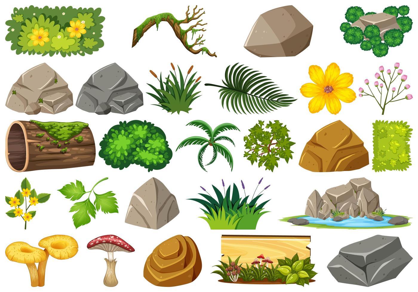 Set van natuurelementen vector