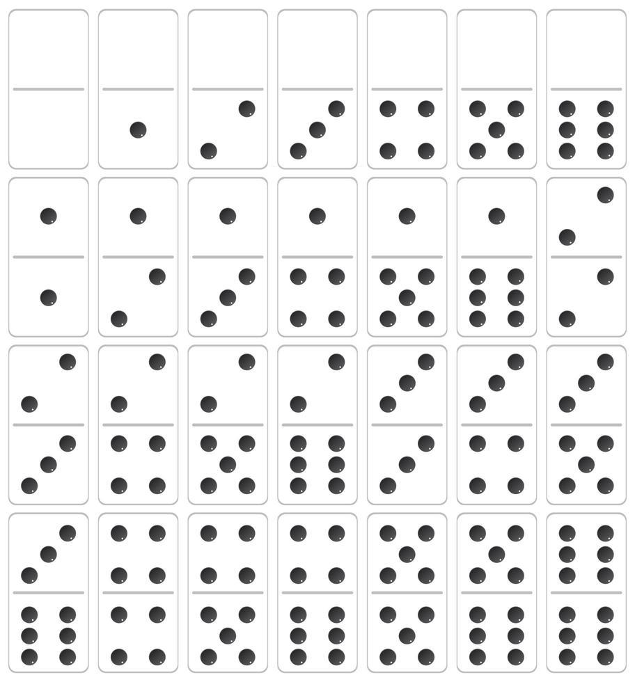 Un conjunto de dominó vector