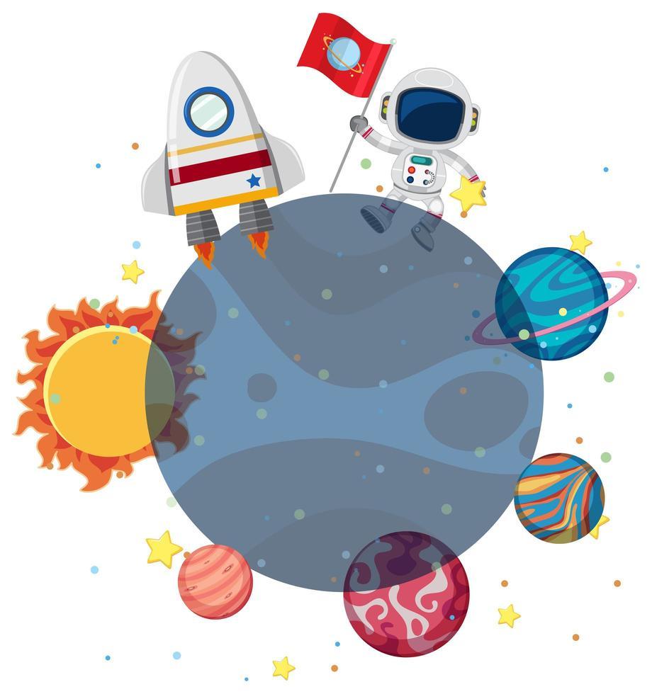 Un astronauta nello spazio vettore