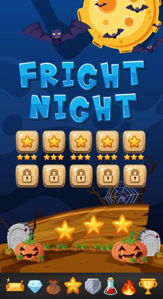 Een Halloween Night Game Template vector