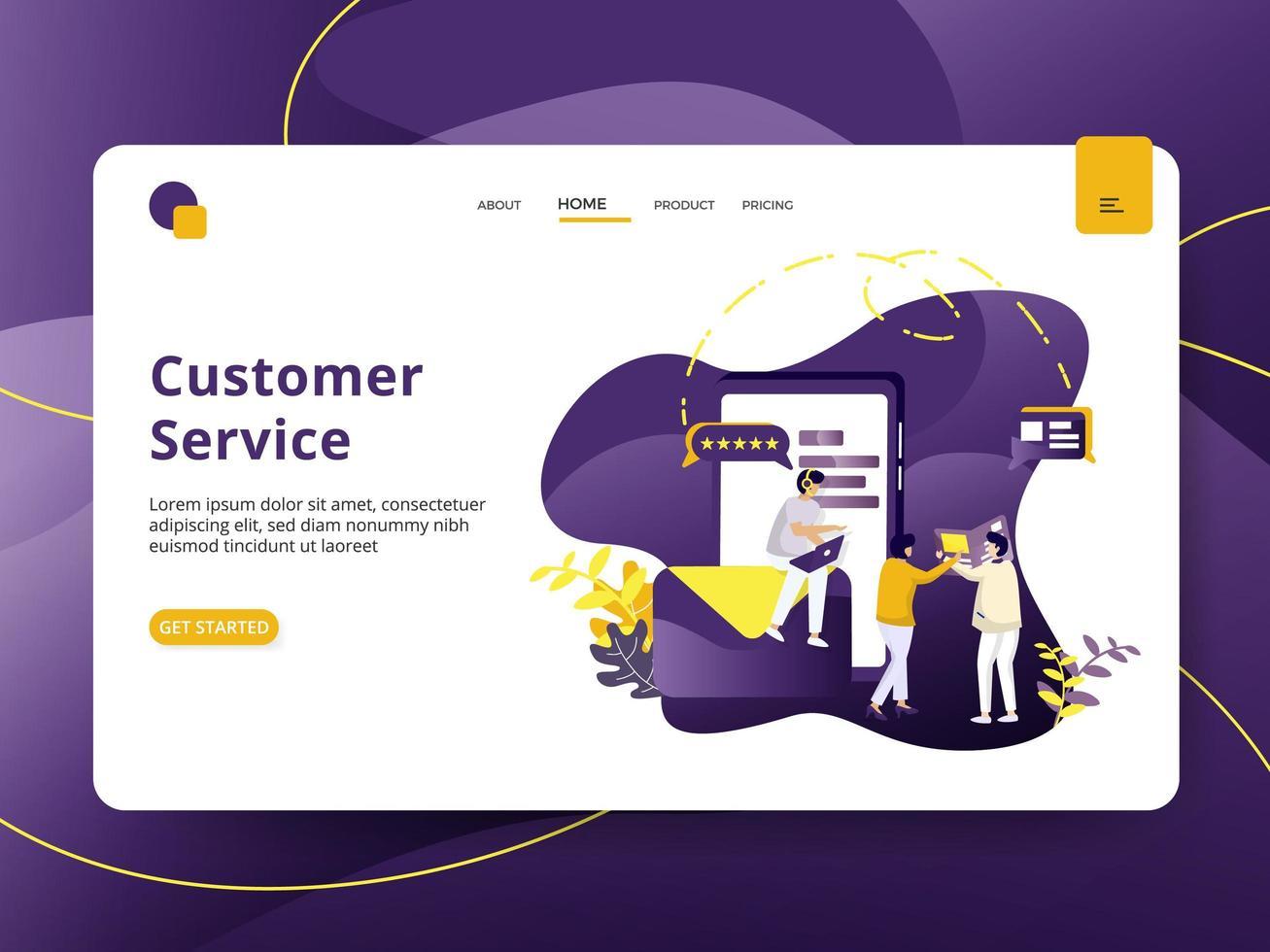Zielseite Kundenservice vektor