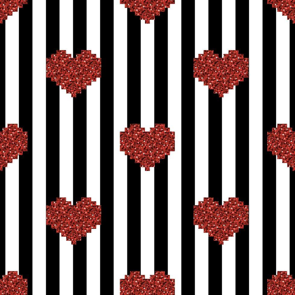 naadloze hart patroon achtergrond vector