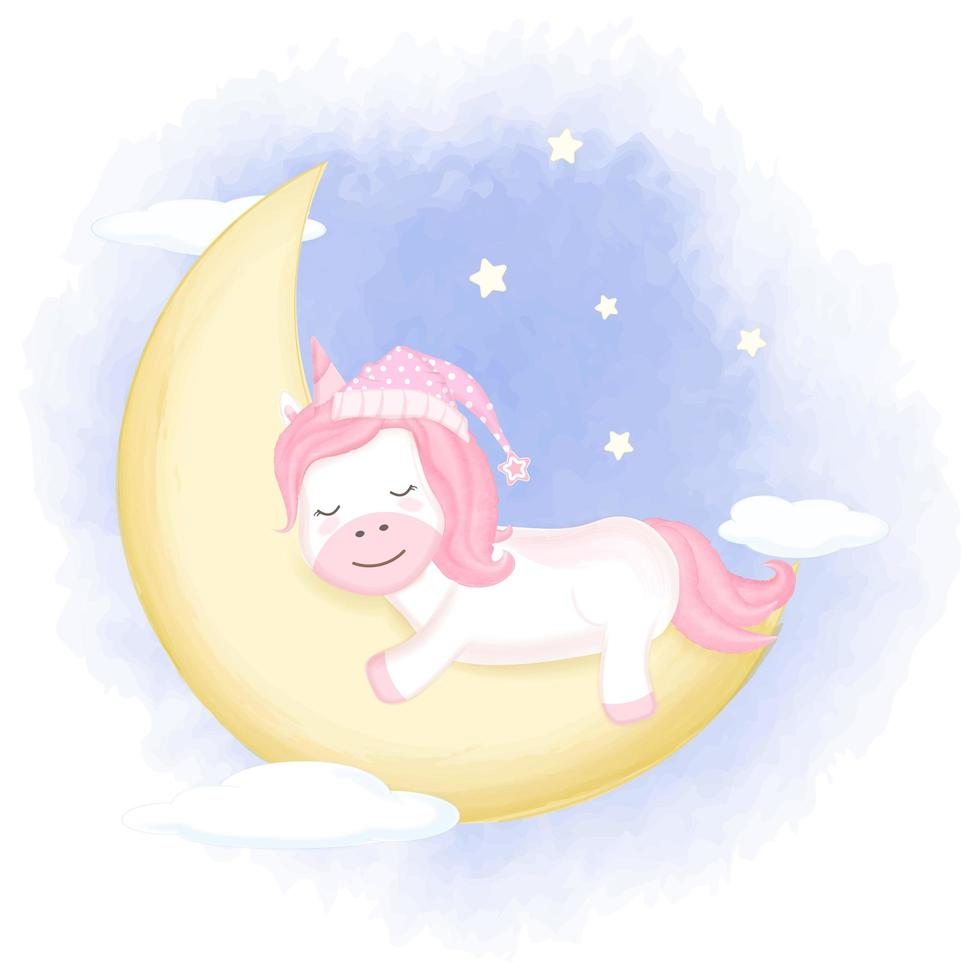cute unicorn asleep on crescent moon download free vectors clipart graphics vector art cute unicorn asleep on crescent moon