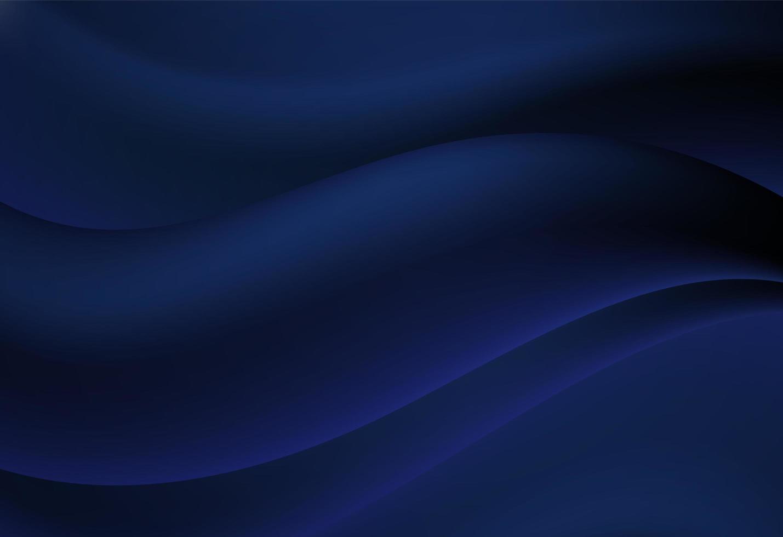 Marineblauwe abstracte kromme en golvende achtergrond vector