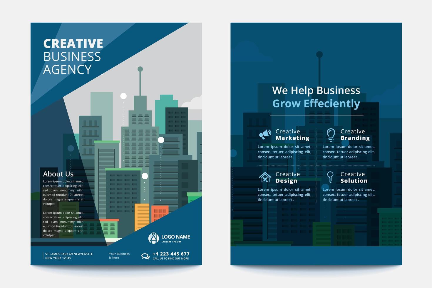 Modelo de negócios corporativos vetor