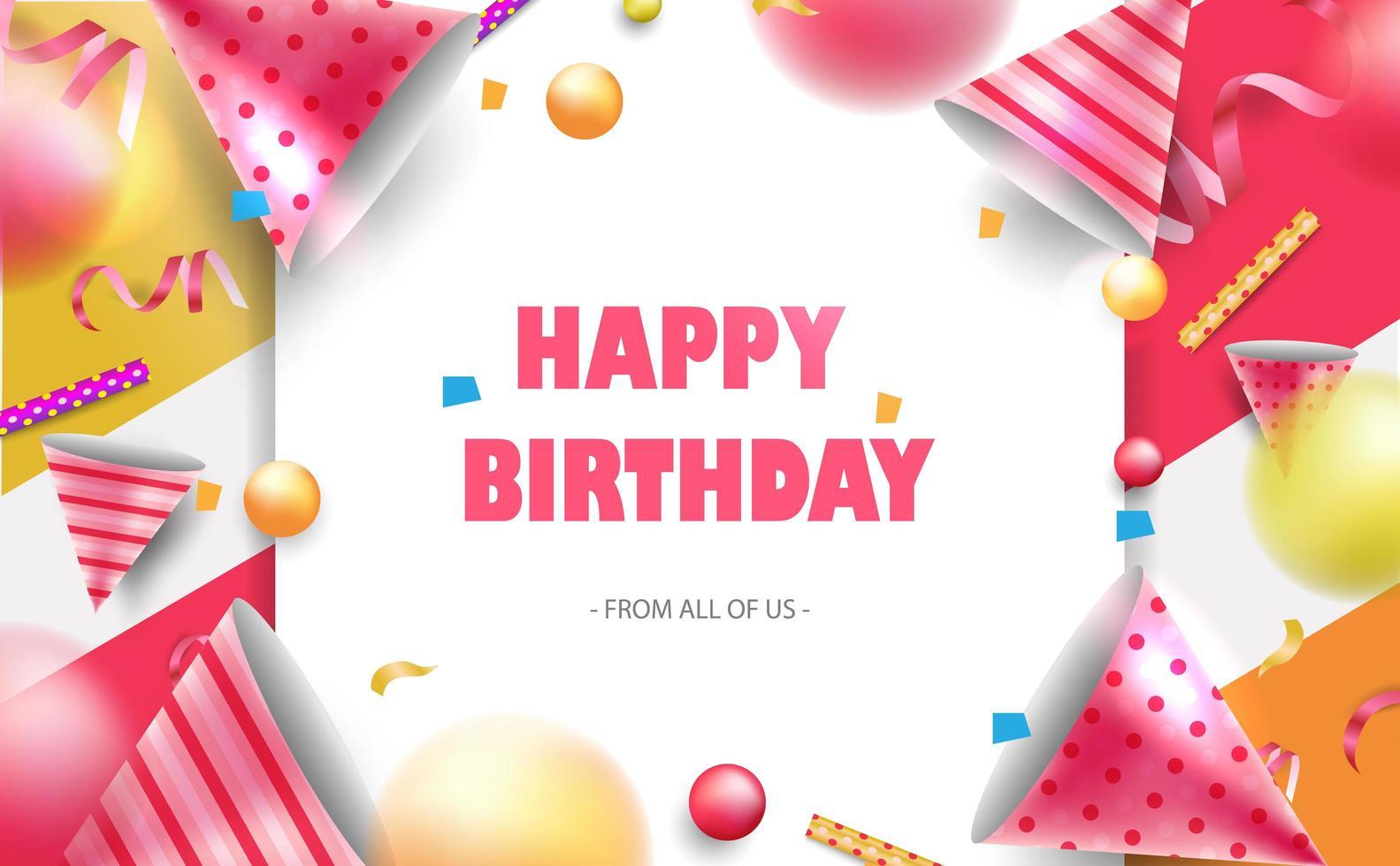 Feliz aniversário comemoração tipografia para cartão vetor