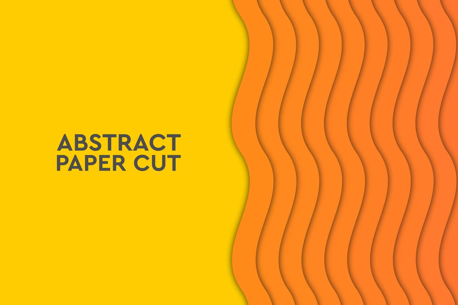 Ola naranja abstracto geométrico vector