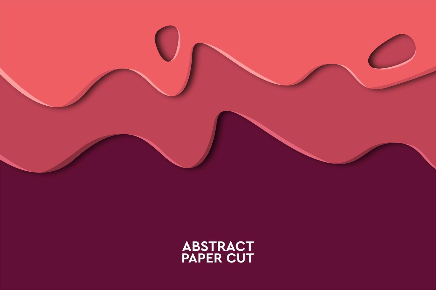 Fondo geométrico abstracto rosa ola marrón vector