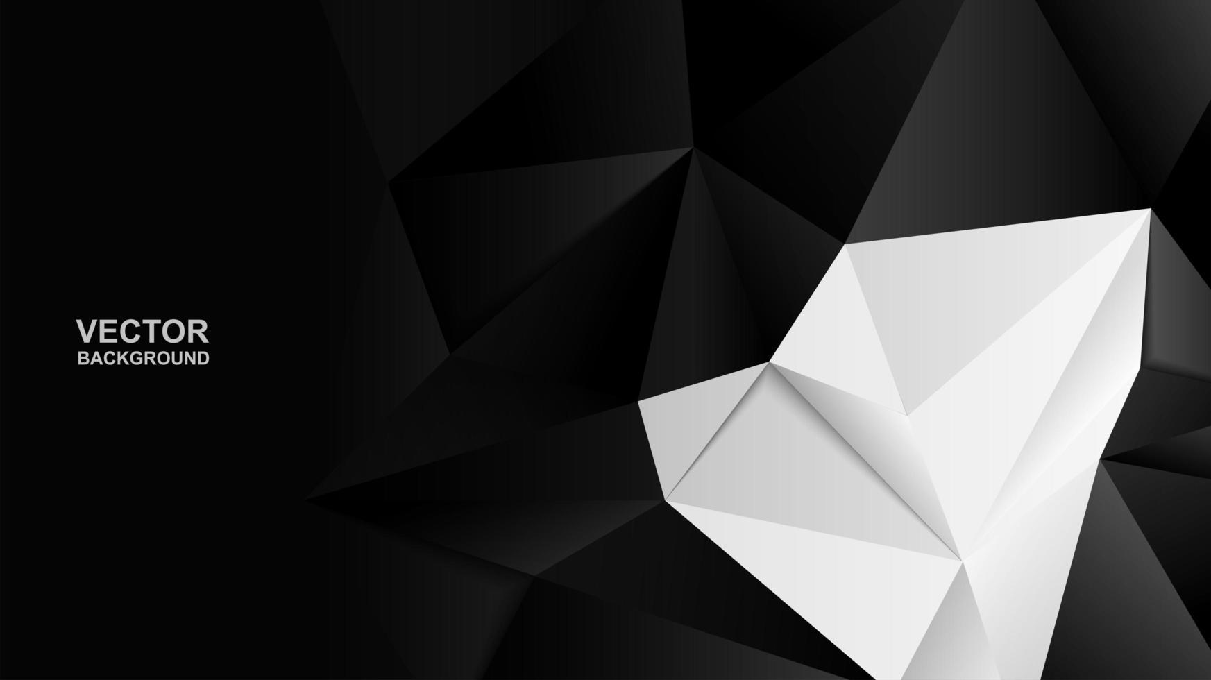 Moderne zwart-witte veelhoekachtergrond vector