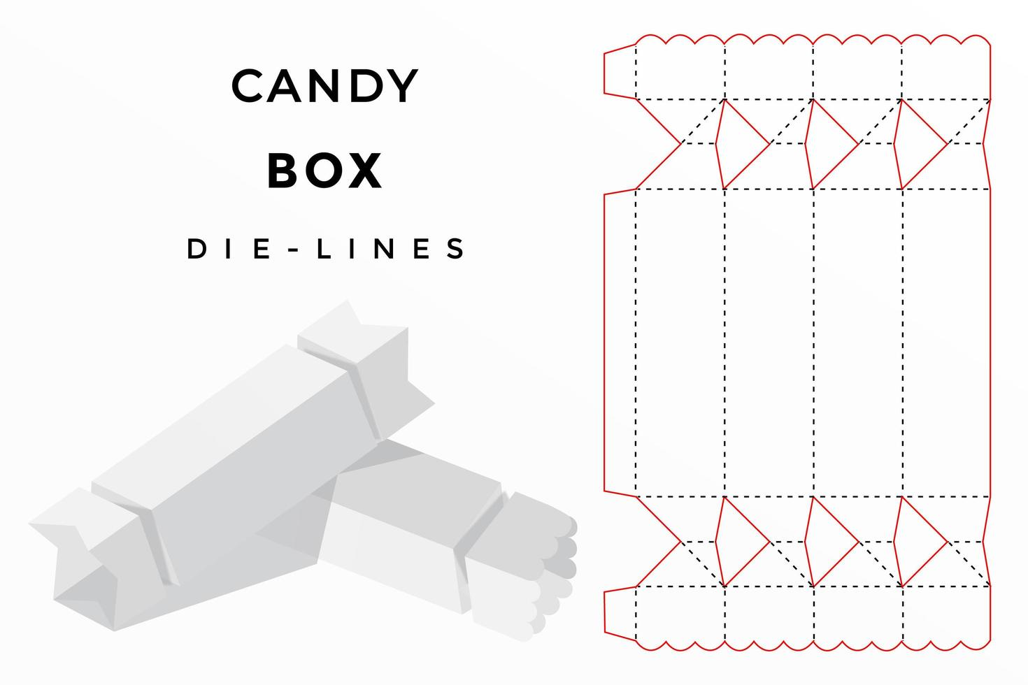 candy box die cut vector