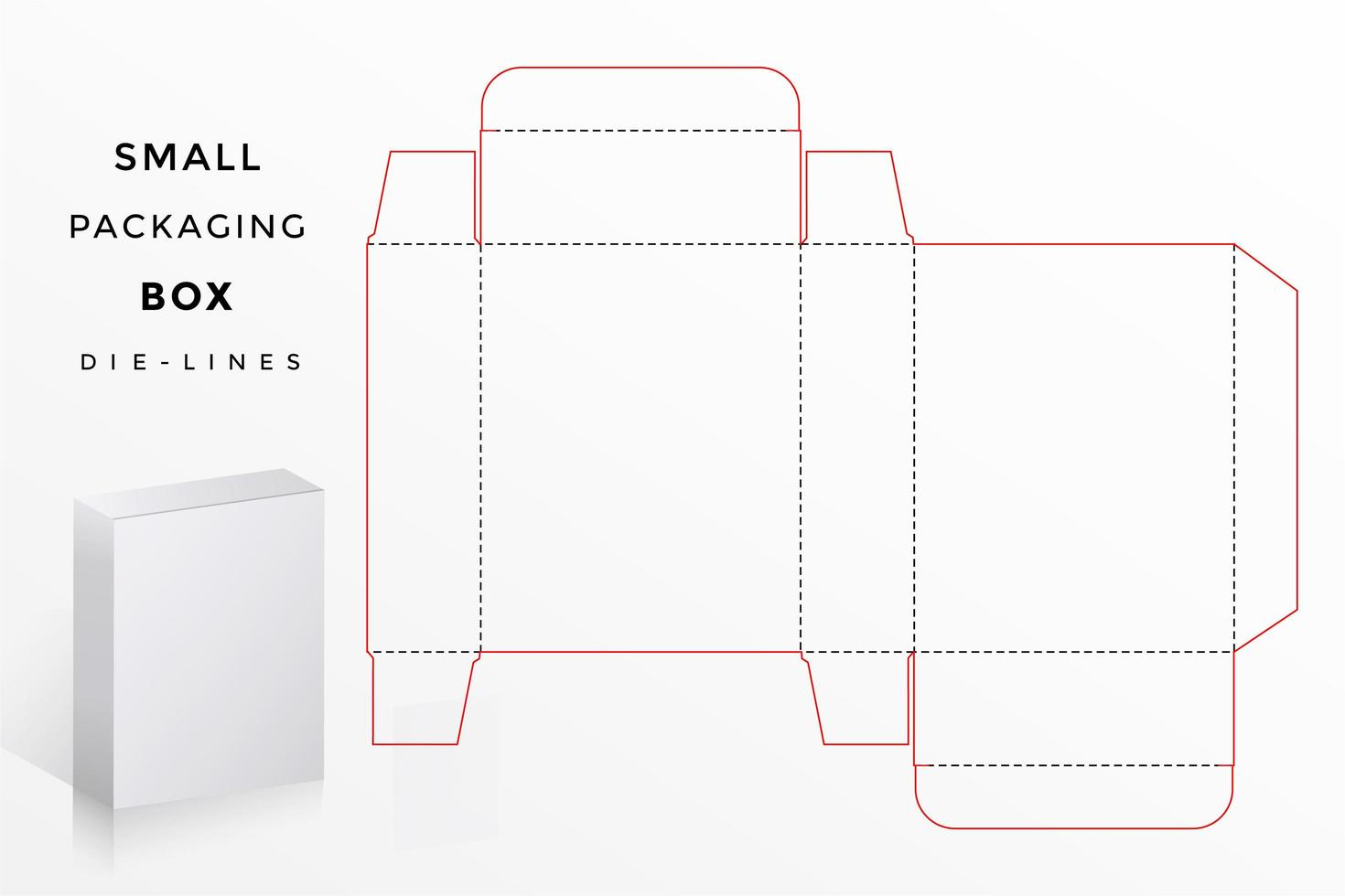 kleine doos die lijnen vector