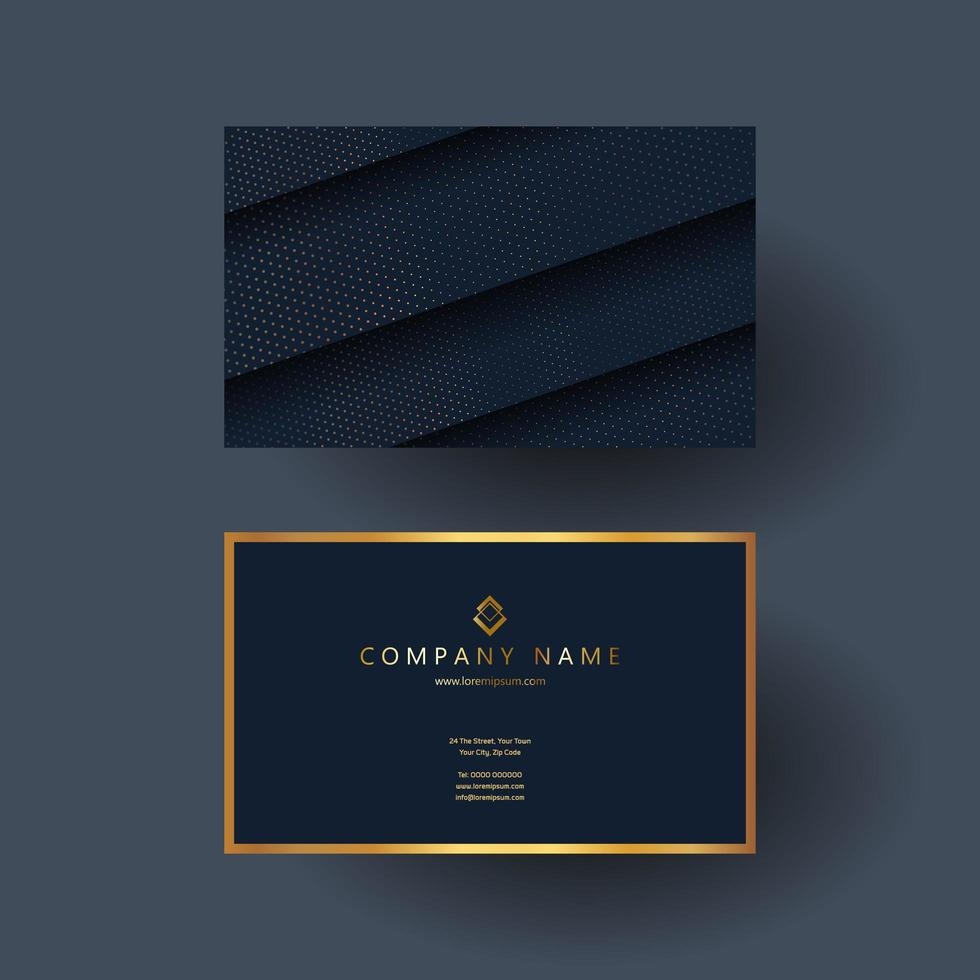 Elegant Business Card Design In Blue And Gold Download Free Vectors Clipart Graphics Vector Art