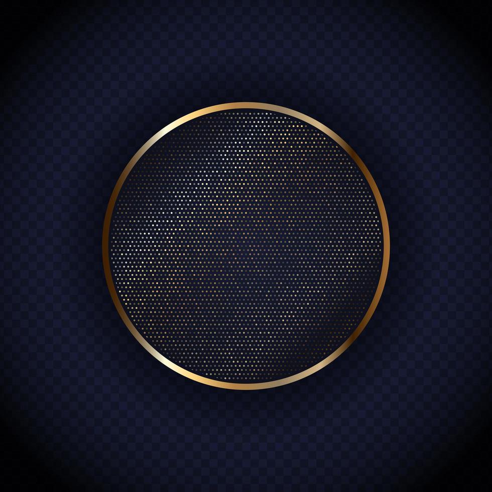 Design del telaio metallico a cerchio punteggiato vettore