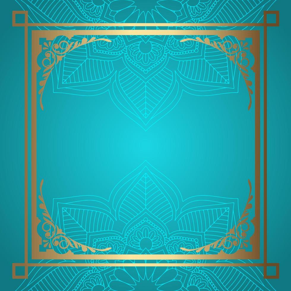 Mandala-achtergrond met decoratieve gouden rand vector