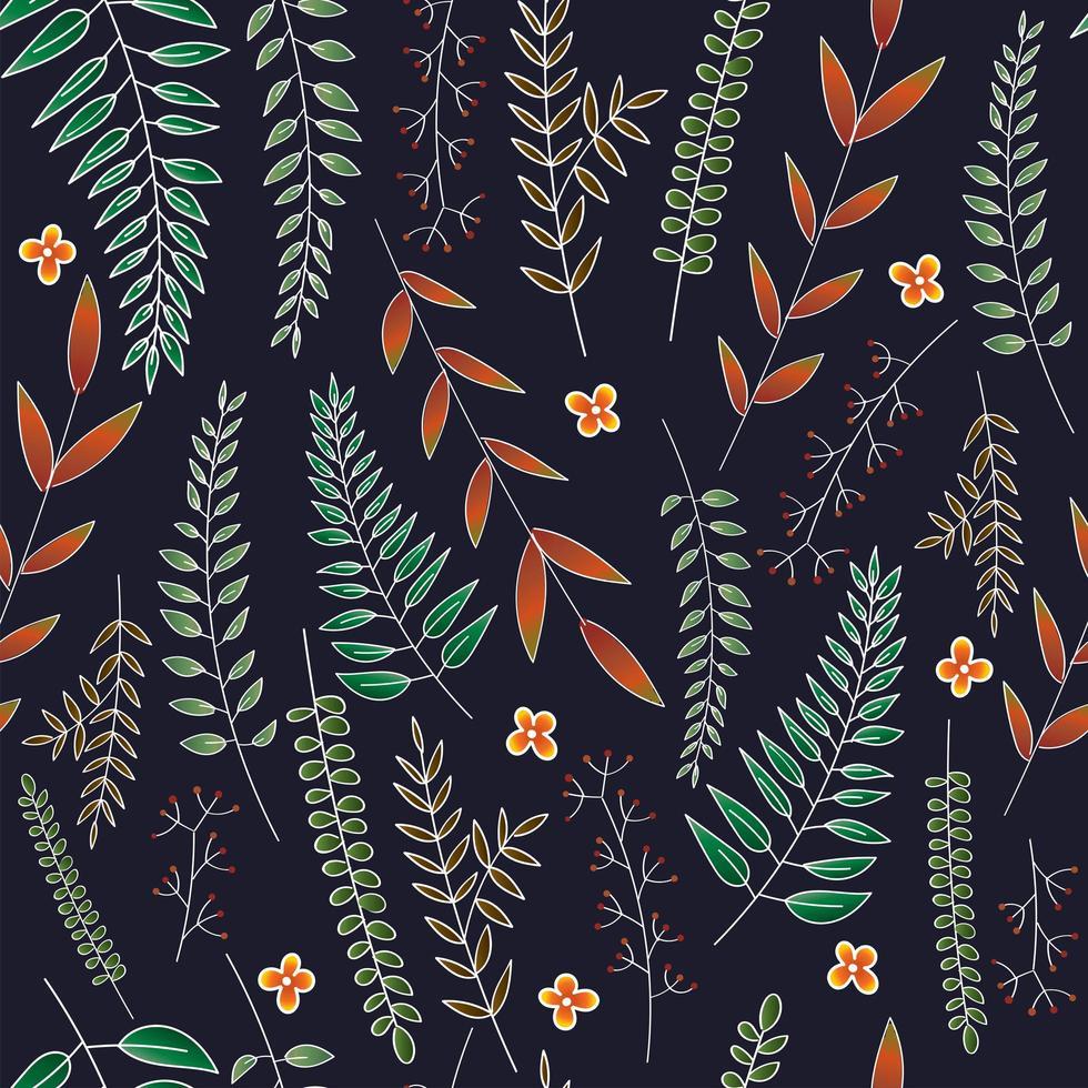 Folhas de desenho de fundo vetor