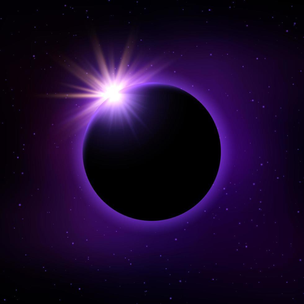 Fondo de eclipse solar vector