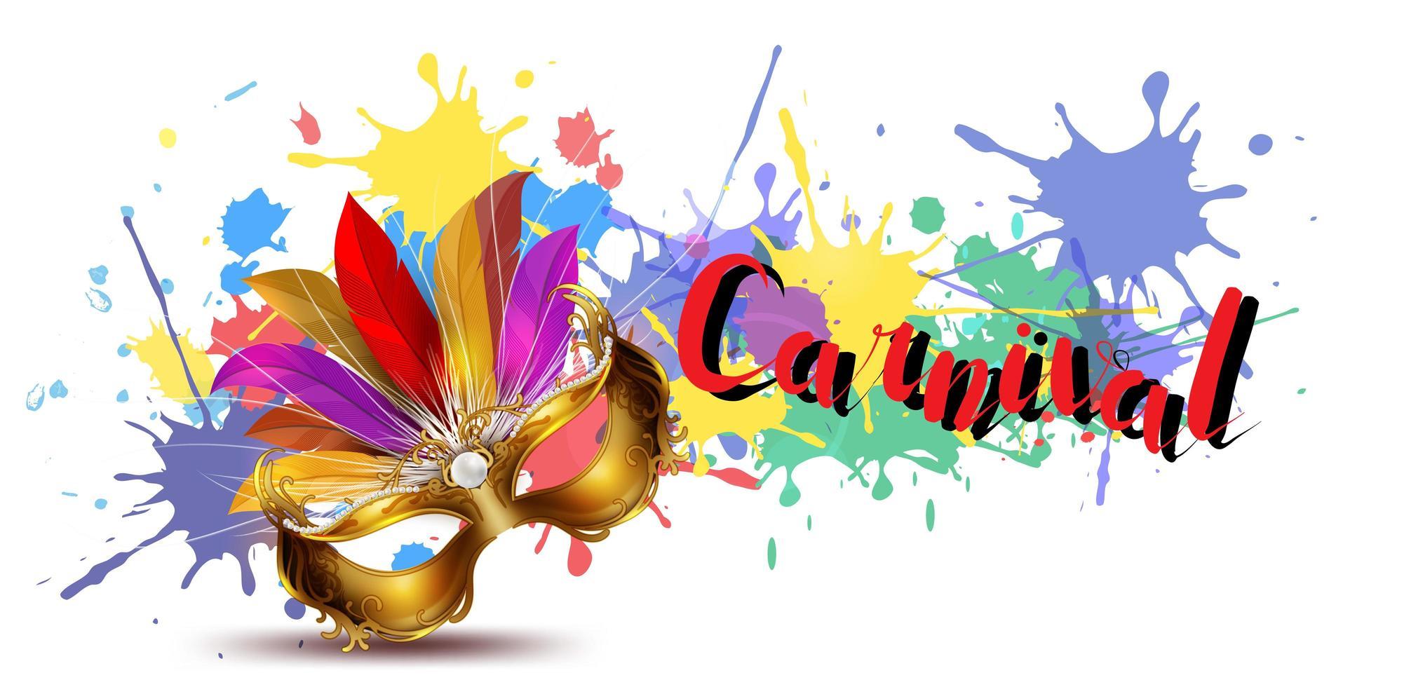 Fond de carnaval coloré avec des éclaboussures de peinture vecteur