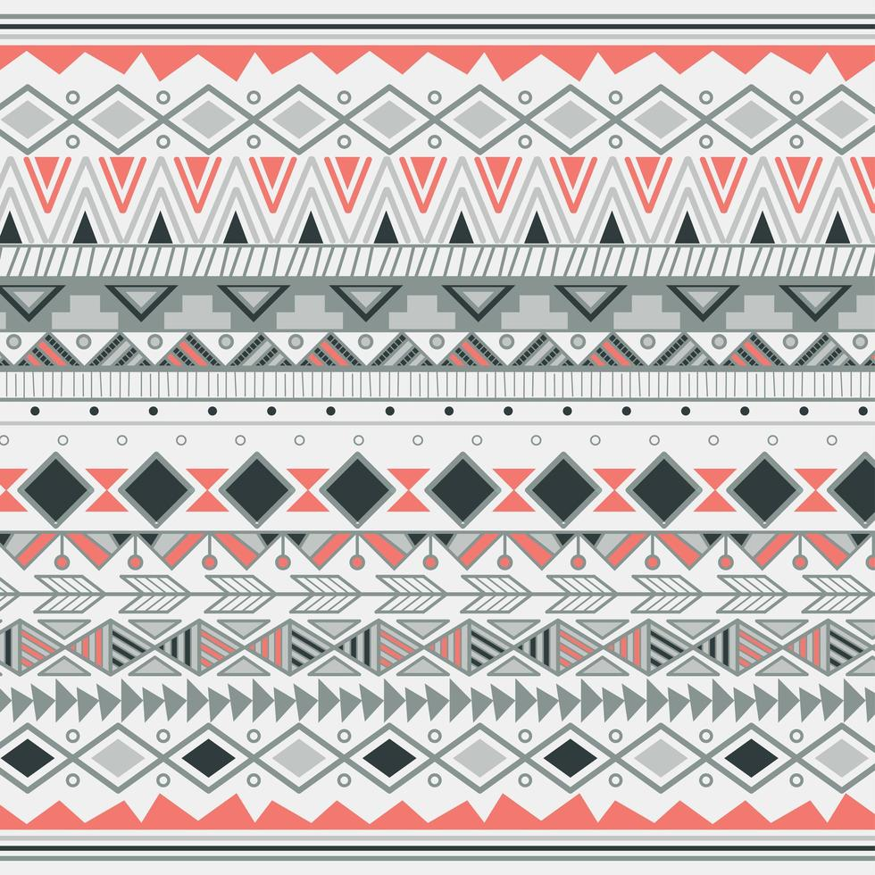 Motif tribal aztèque à rayures vecteur