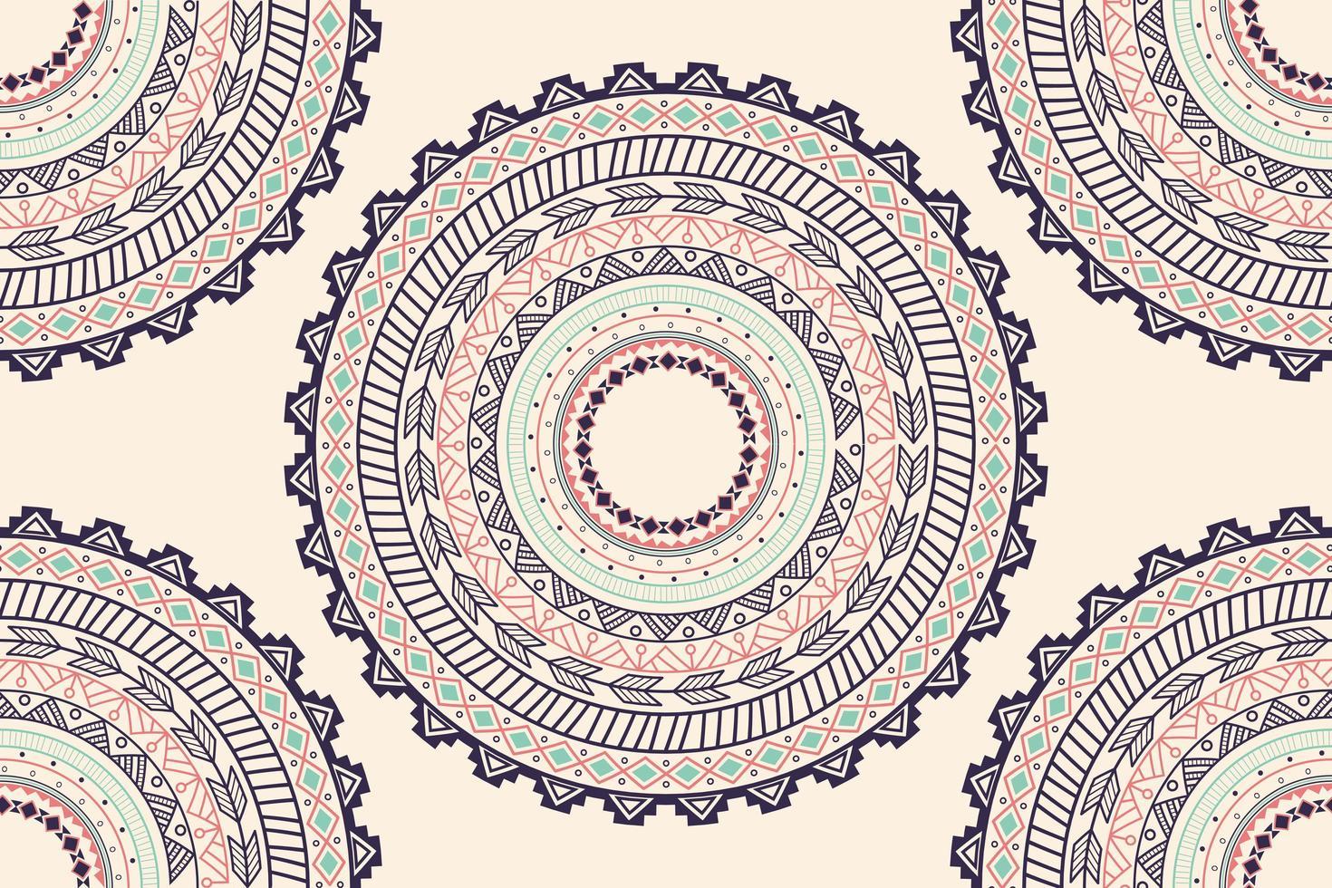 Padrão sem emenda de ornamento étnico círculo asteca vetor