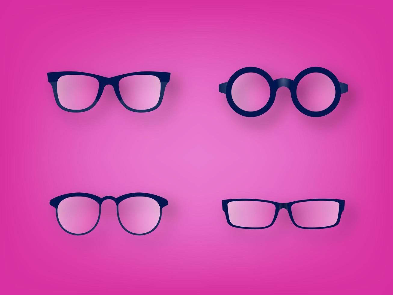 Set di icone vettoriali vetro occhio