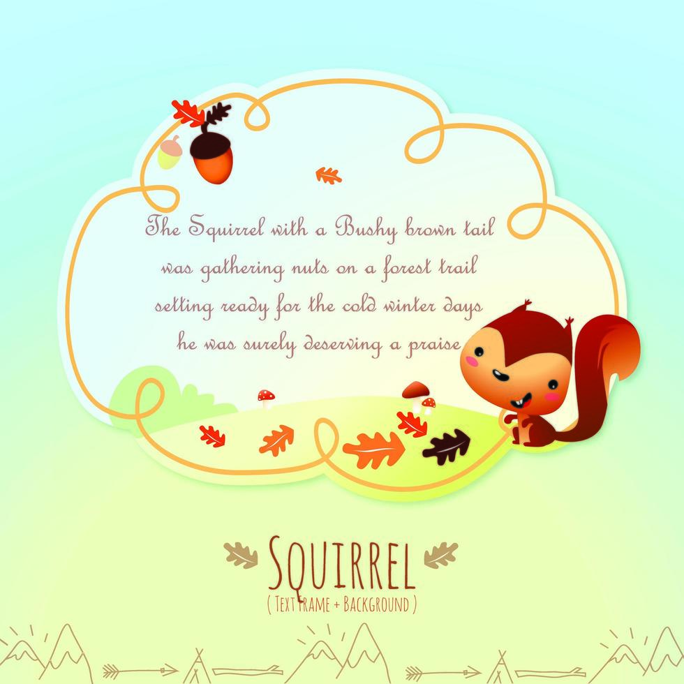 Children's Fanciful Storybook Text Frame and Background vector