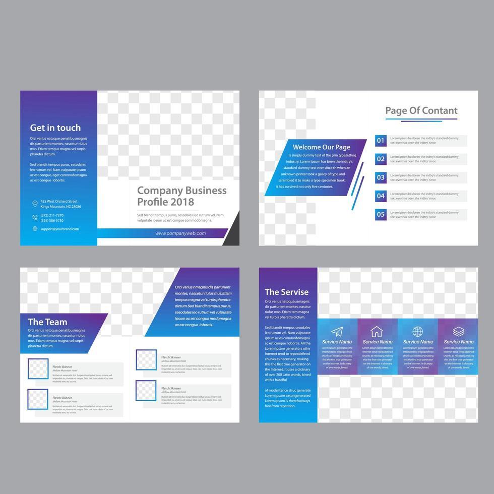 Modèle de brochure d'entreprise de 8 pages vecteur
