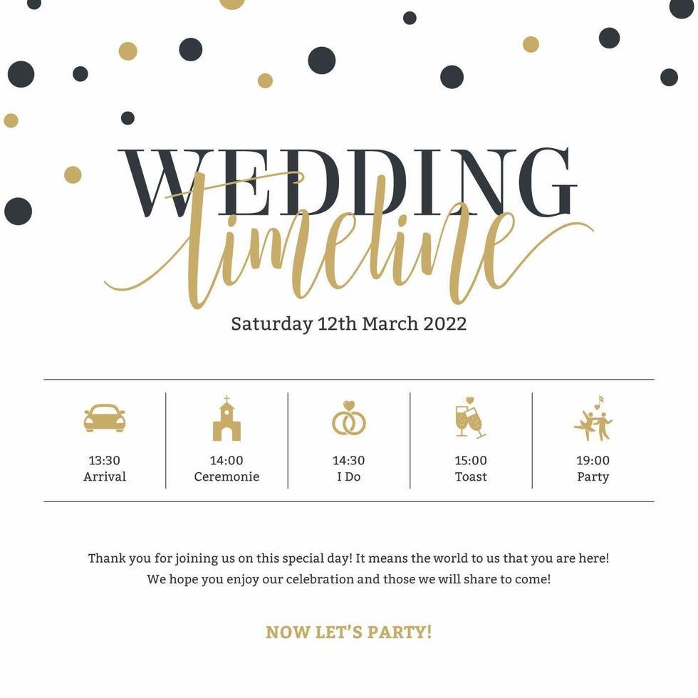 Wedding Timeline Template Vector Download Free Vectors Clipart