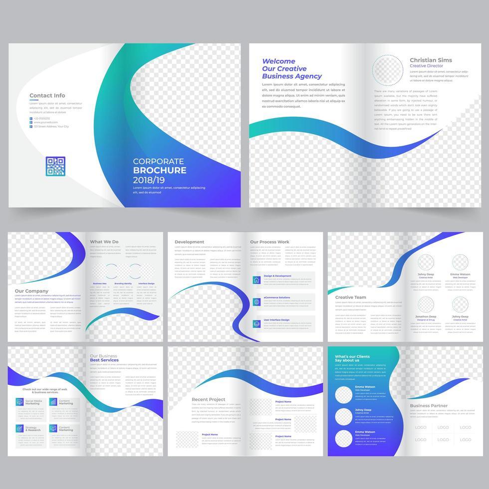 Modèle de Brochure de profil d'entreprise vecteur