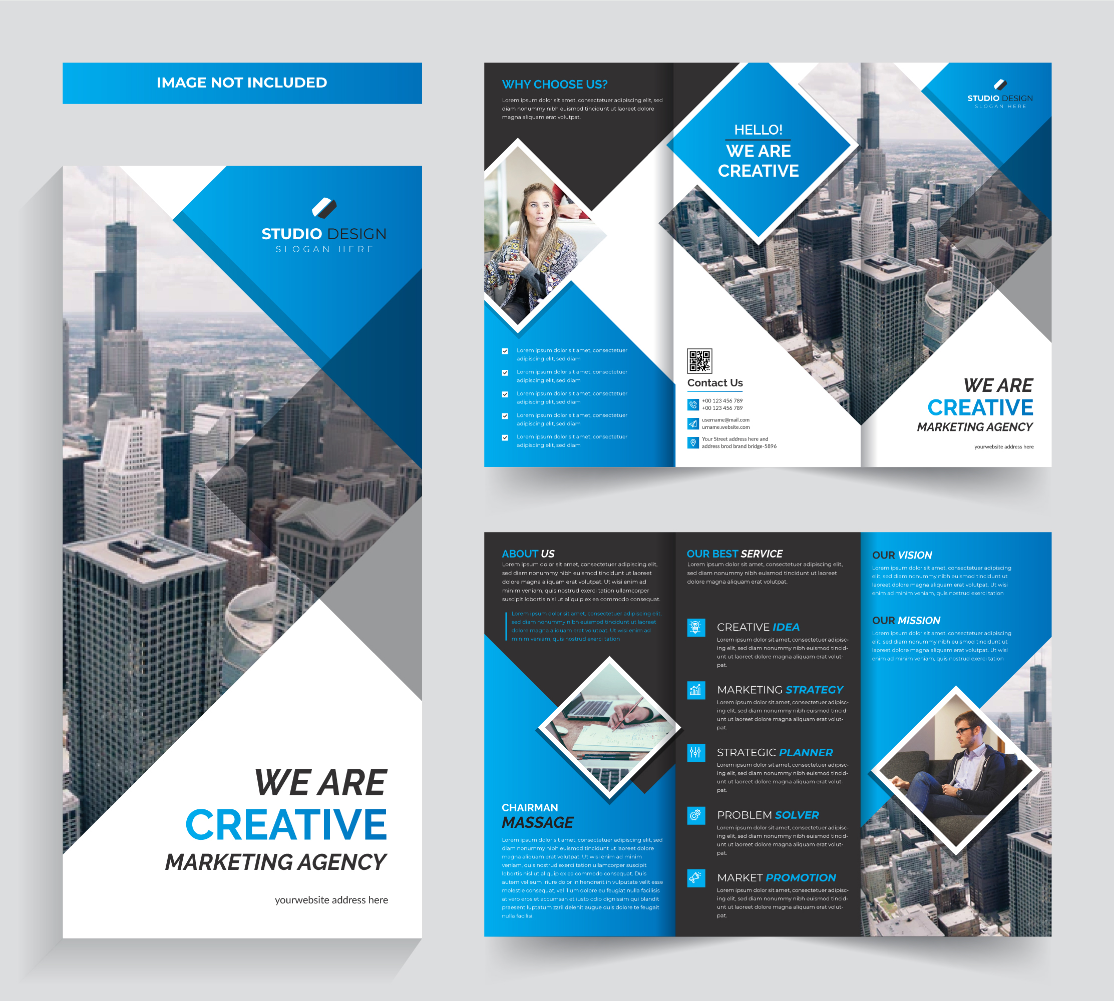 Corporate Trifold Brochure Design Free Template Download