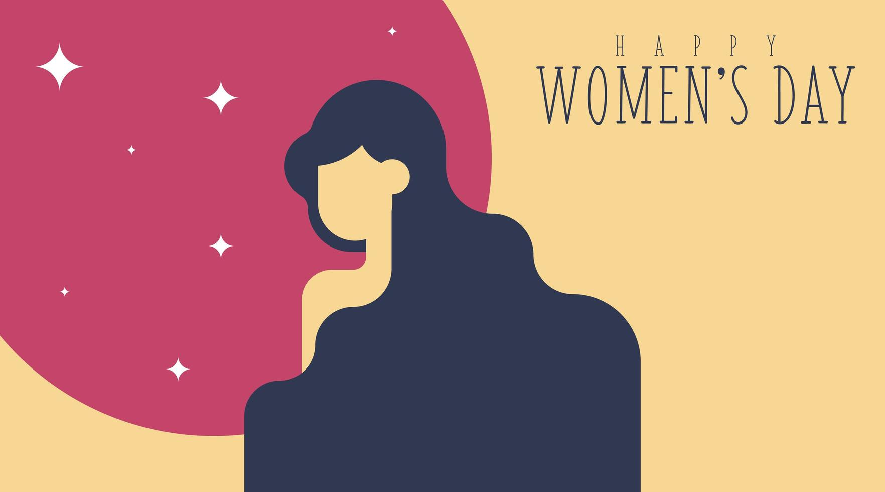 8 mars Contexte de la Journée de la femme vecteur