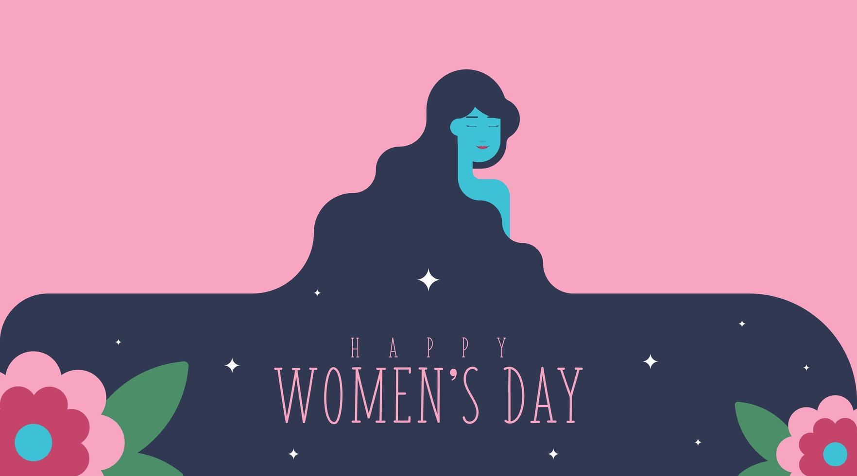 8 de março dia da mulher fundo vetor
