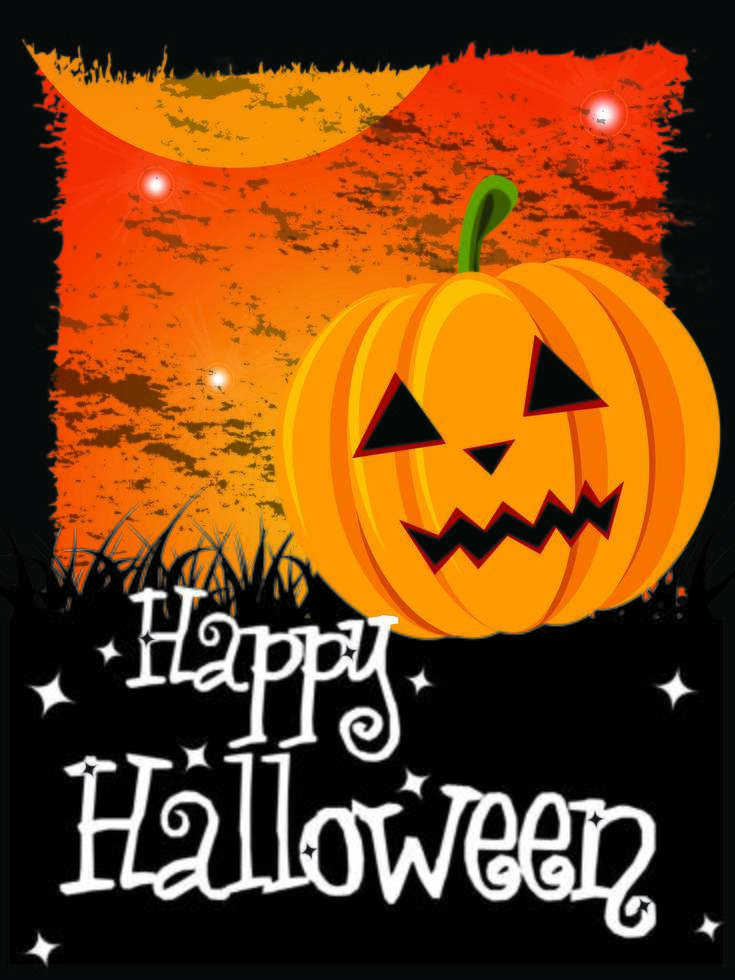 Happy Halloween card with pumpkin and message vector