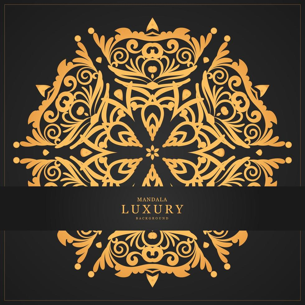 Luxury Gold mandala and banner  vector