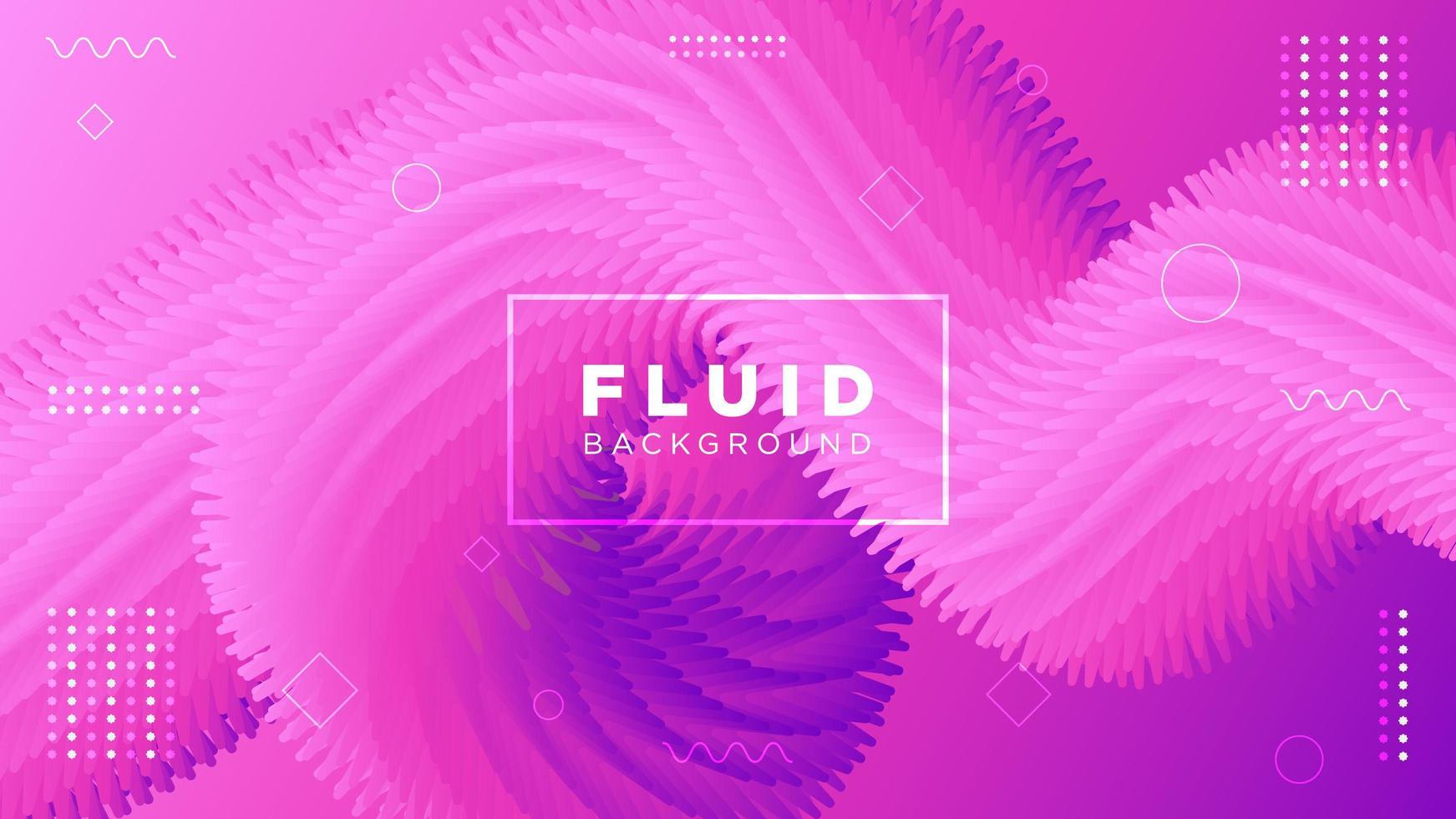 Movimiento moderno spikey fondo rosa fluido vector