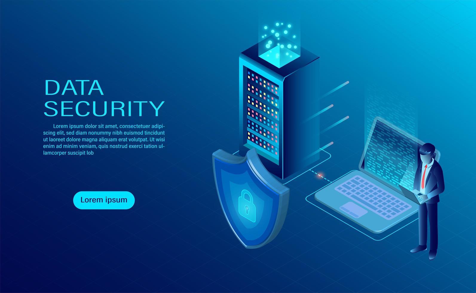 Data security concept vector