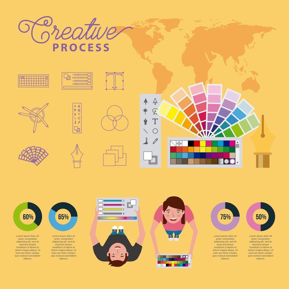 people working process vector