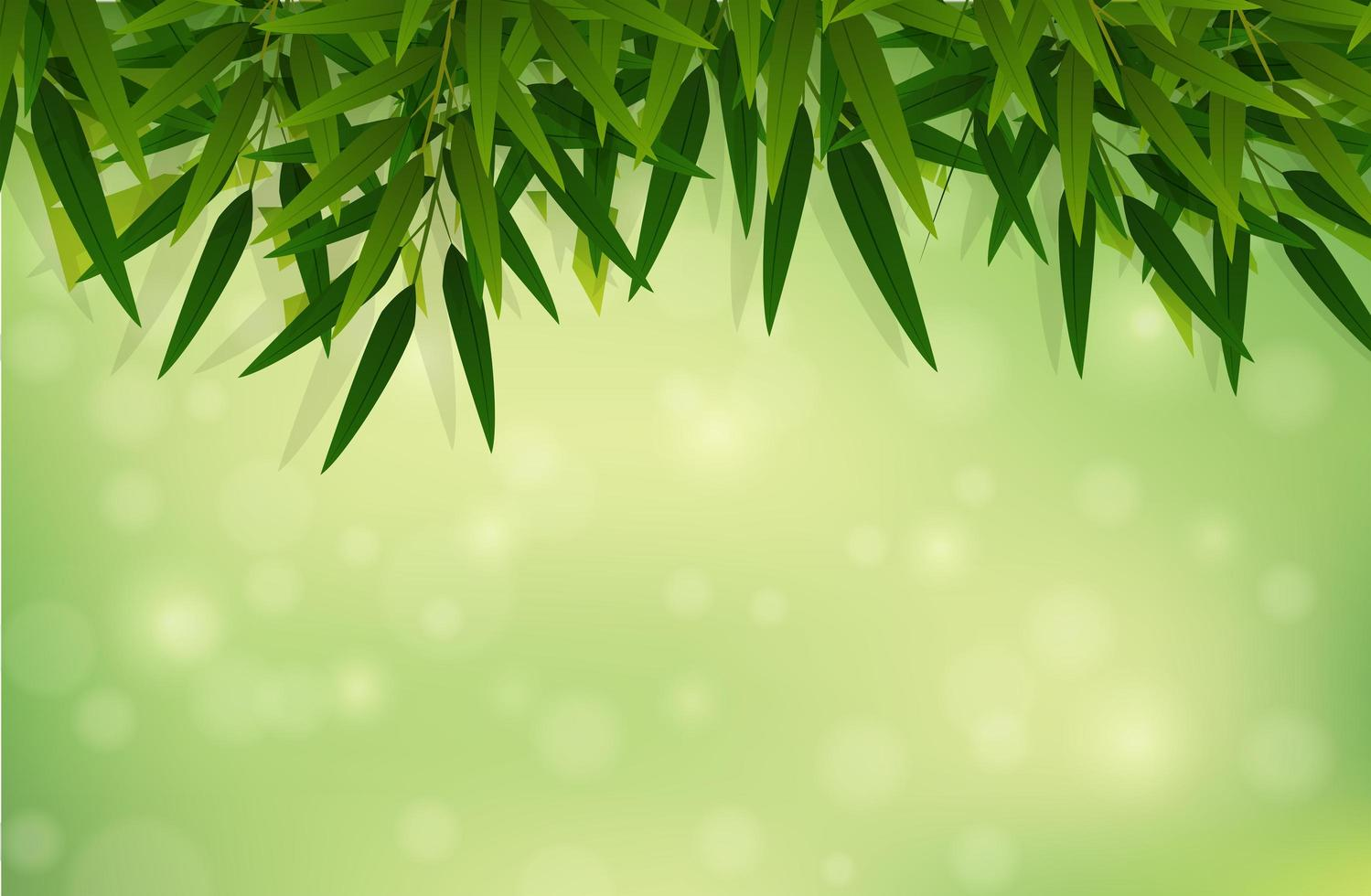 En grön bambubladbakgrund vektor