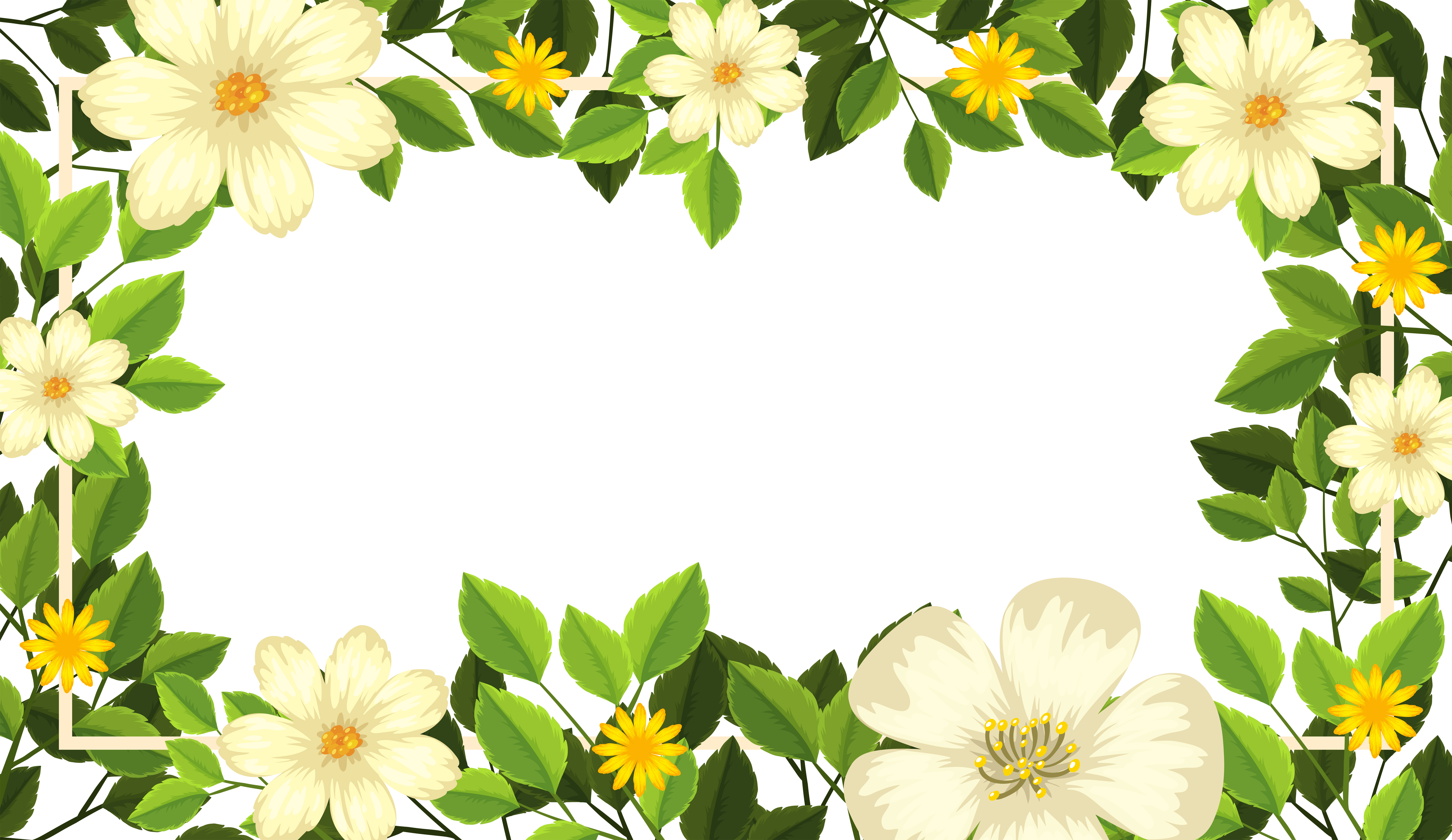 beautiful flower blank card 696128 vector art at vecteezy