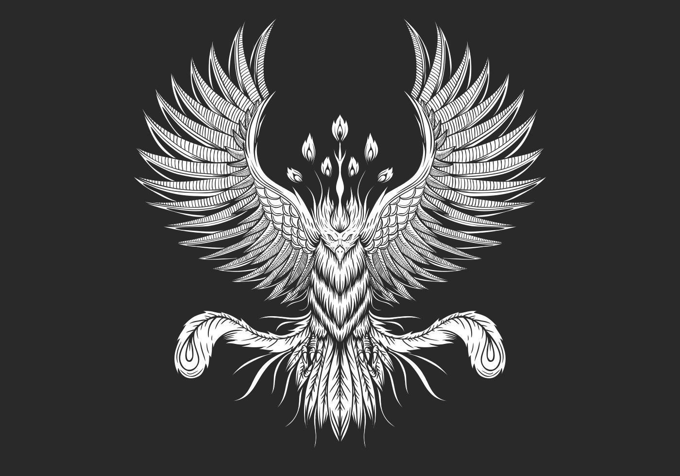 Diseño de ave fénix vector
