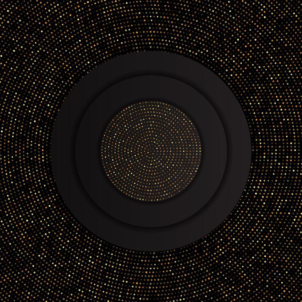 abstrait avec motif de points d'or vecteur