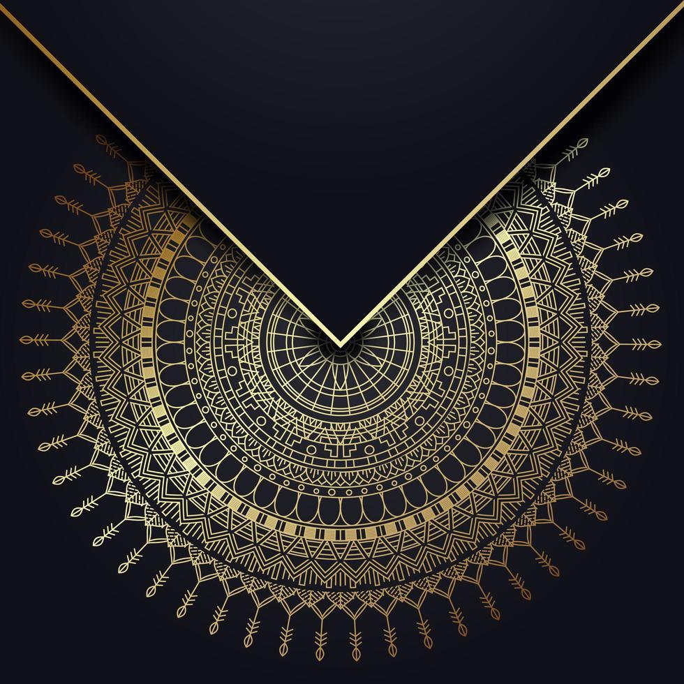 gold mandala background vector