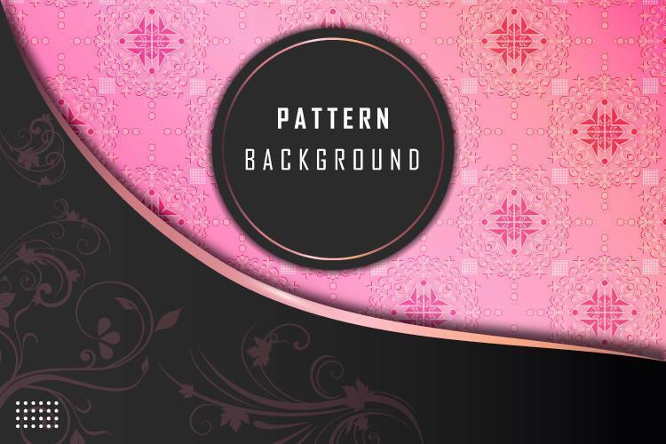 Gradientes de lujo en negro y rosa vector