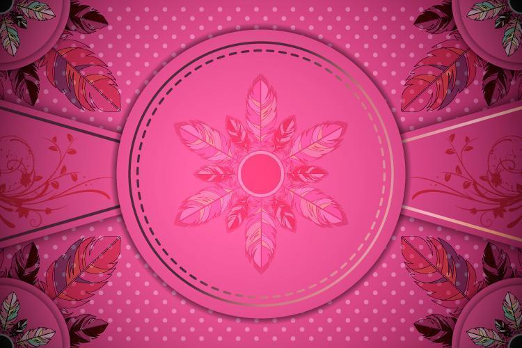 Pink Gradient Ornamental Background vector