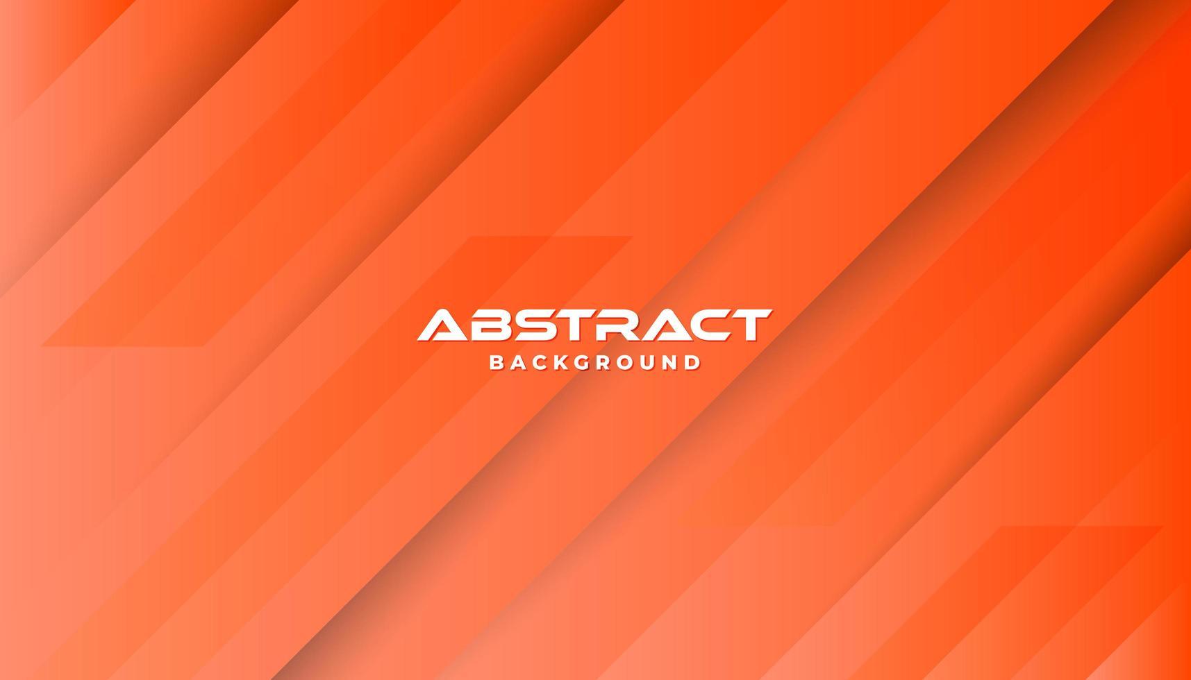Capas 3d fondo naranja formas diagonales vector
