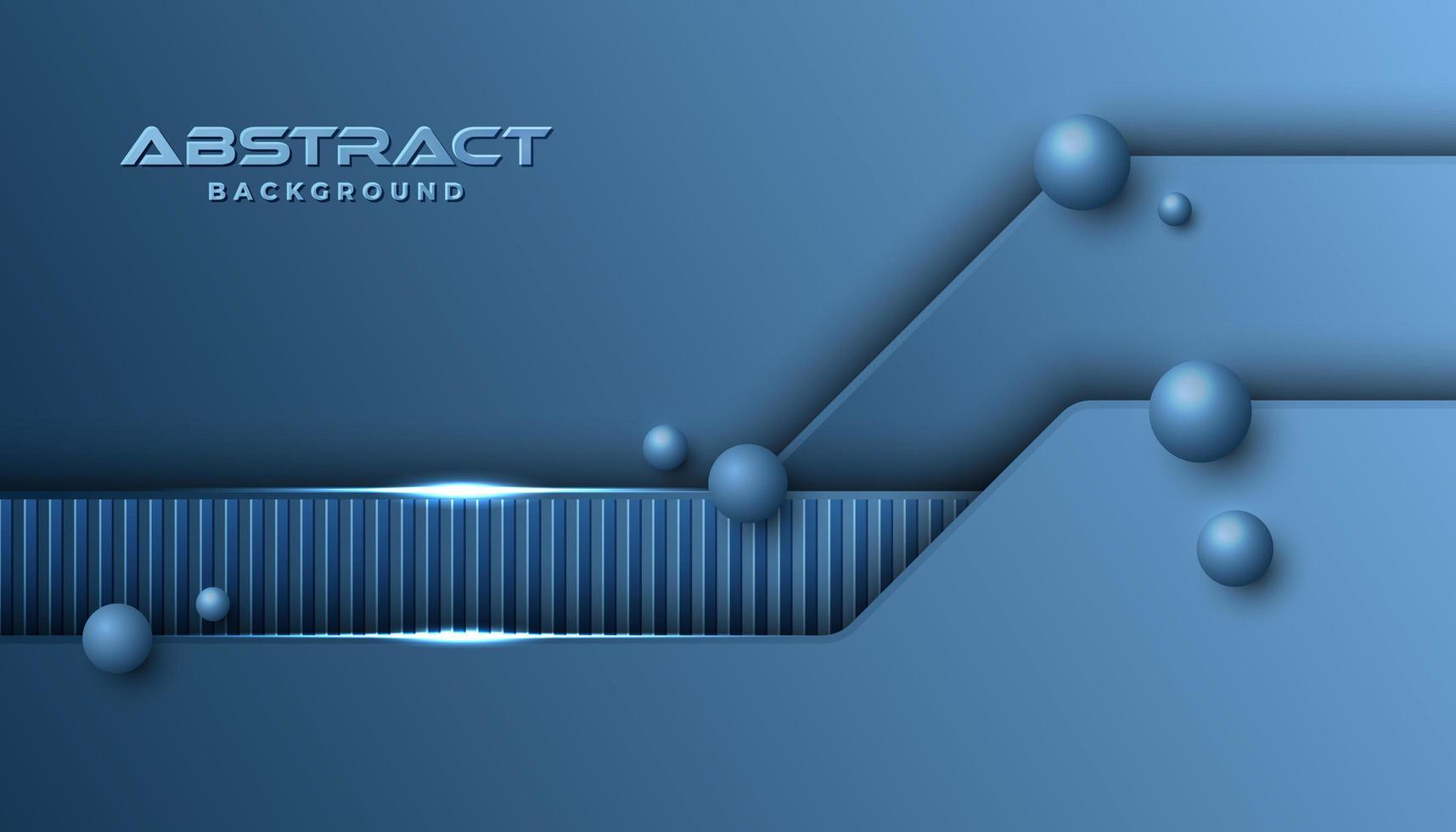 Fondo de formas en capas futurista azul clásico vector