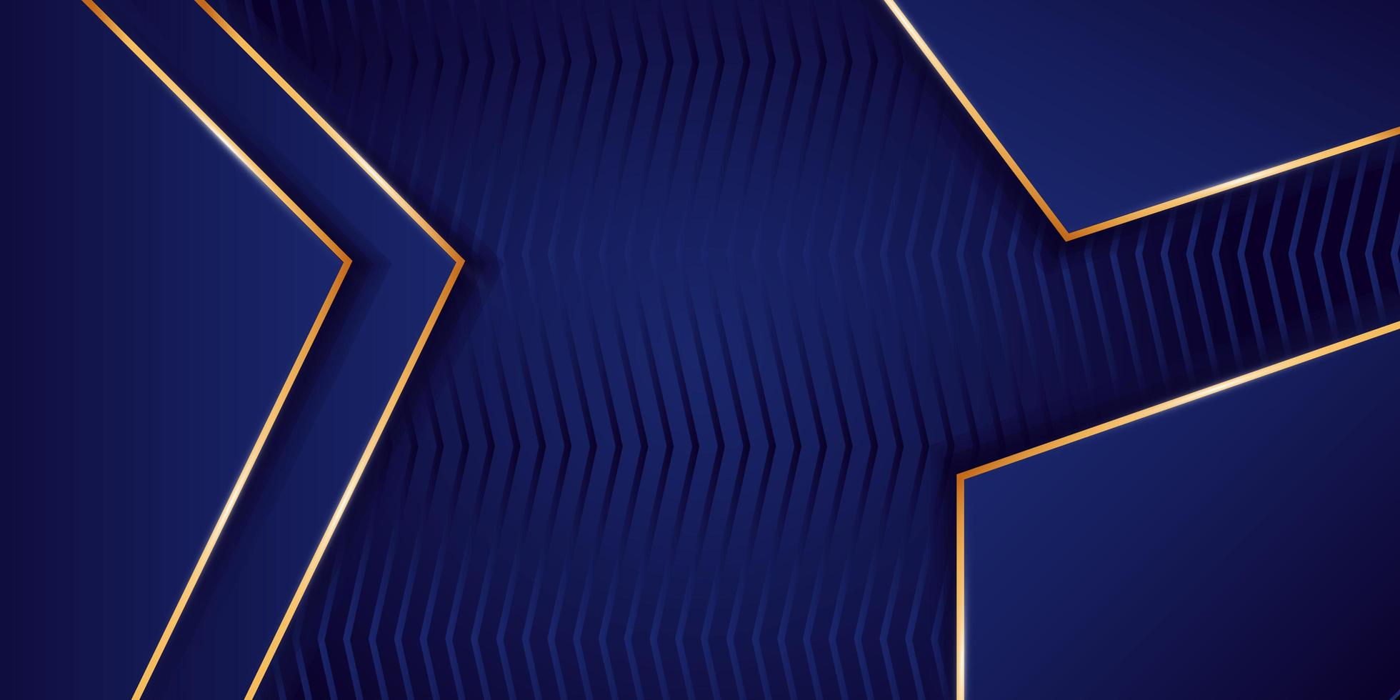 Elegante fondo azul y dorado vector