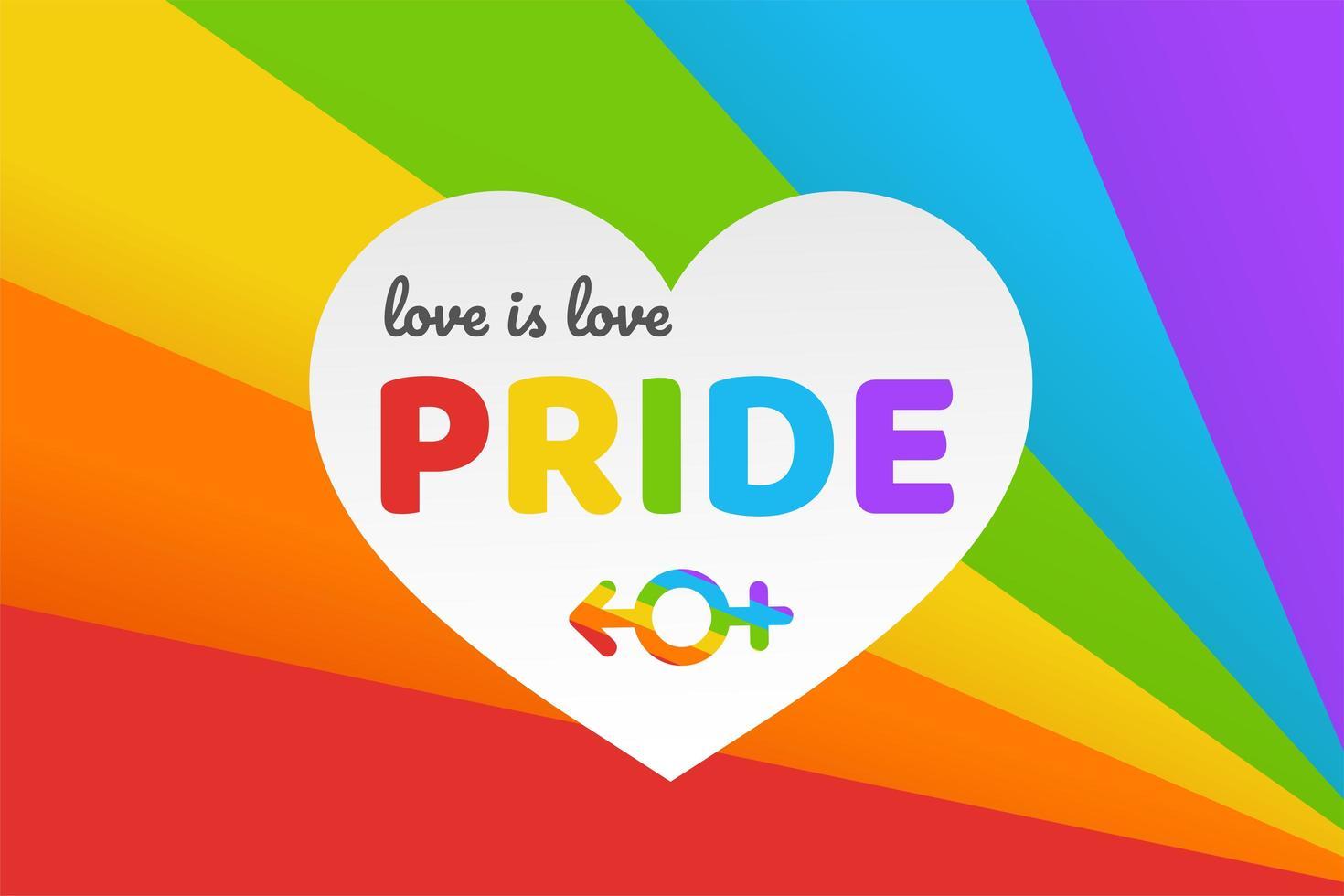 Happy Pride background vector